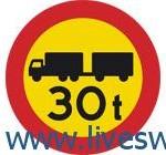 ممنوع دخول العربات او مجموعة المركبات التي يزيد وزنها عن الوزن المبين على الشاخصة
