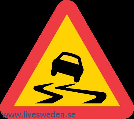 احذر الطريق زلق