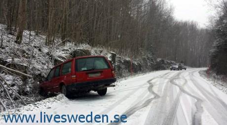 Lerdala olycka الانزلاق على الثلج